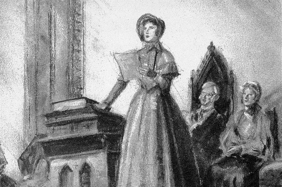 Elizabeth Cady Stanton speaking at the 1848 Seneca Falls Convention